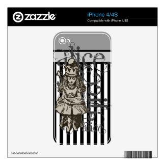 Alice In Wonderland Queen Alice Grunge iPhone 4S Decal