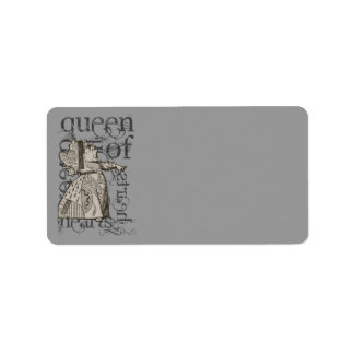 Alice In Wonderland Queen of Heart Grunge (Single) Address Label