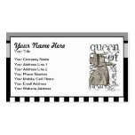 Alice In Wonderland Queen of Hearts Grunge Business Card Templates