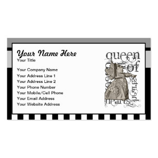 Alice In Wonderland Queen of Hearts Grunge Business Card