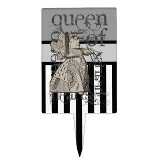 Alice In Wonderland Queen of Hearts Grunge Cake Topper
