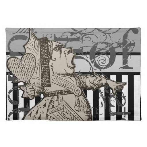 Alice In Wonderland Queen of Hearts Grunge Cloth Placemat