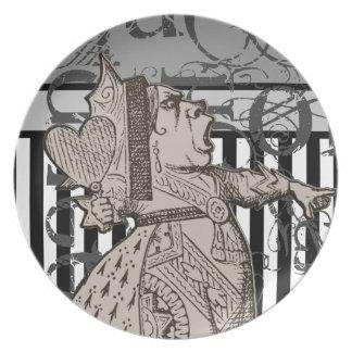 Alice In Wonderland Queen of Hearts Grunge Melamine Plate