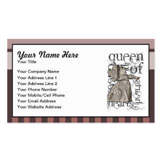 Alice In Wonderland Queen of Hearts Grunge (Pink) Business Card