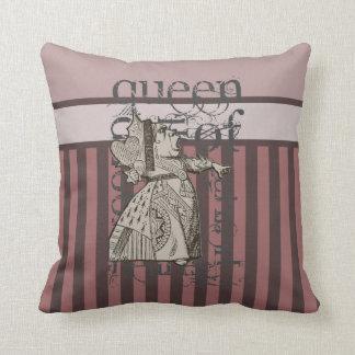 Alice In Wonderland Queen of Hearts Grunge (Pink) Pillow
