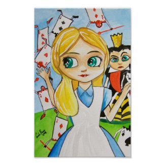 Alice in Wonderland Queen of hearts Poster