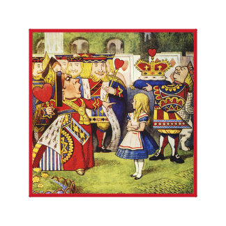 Alice in Wonderland Queen of Hearts Wrapped Canvas