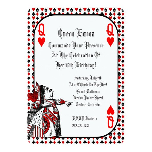 Mad Hatter Invitation with great invitations design