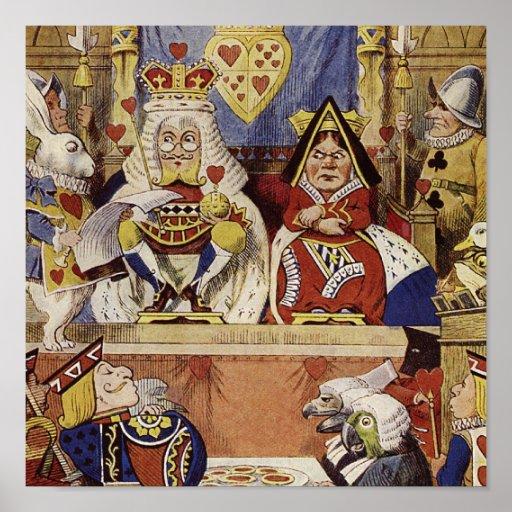 Alice in Wonderland Queen's Court Print