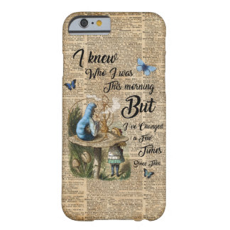 Alice in Wonderland Quote Vintage Dictionary Art Barely There iPhone 6 Case