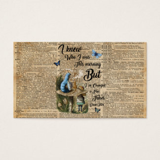 Alice in Wonderland Quote Vintage Dictionary Art Business Card