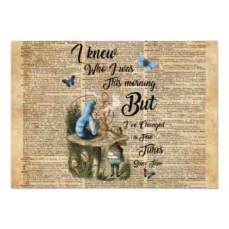 Alice in Wonderland Quote Vintage Dictionary Art Card
