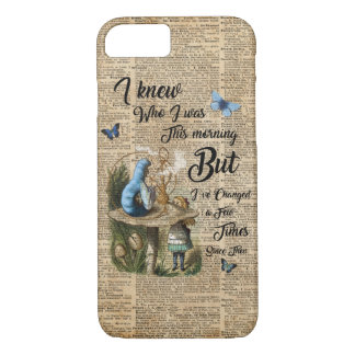 Alice in Wonderland Quote Vintage Dictionary Art iPhone 7 Case