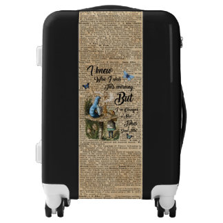 Alice in Wonderland Quote Vintage Dictionary Art Luggage