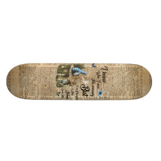 Alice in Wonderland Quote Vintage Dictionary Art Skateboard