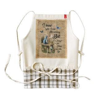 Alice in Wonderland Quote Vintage Dictionary Art Zazzle HEART Apron