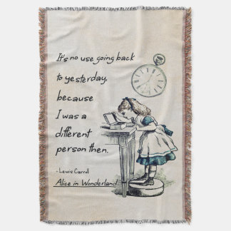 Alice in Wonderland Quotes Throw