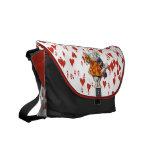 Alice in Wonderland Rabbit Hearts Messenger Bag