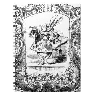 Alice in Wonderland Rabbit Horn Ornate Frame Vinta Notebook