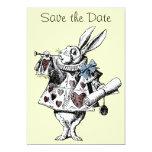 Alice in Wonderland Rabbit Save the Date Card