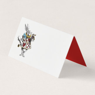 Alice in Wonderland Rabbit with Red Place Card