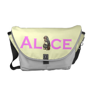 Alice in Wonderland Rackham Caterpillar Courier Bag