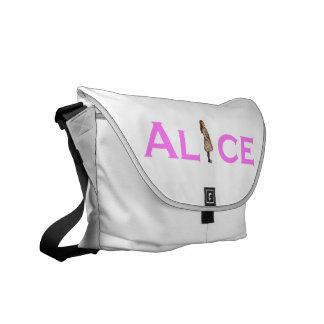 Alice in Wonderland Rackham in Pink Courier Bag