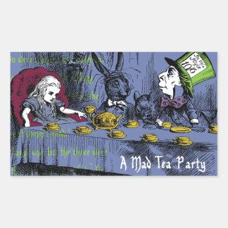 Alice in Wonderland Rectangular Sticker