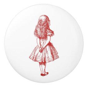 Alice in Wonderland Red Knob Ceramic Knob
