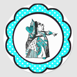 Alice In Wonderland Red Queen Party Favors Classic Round Sticker