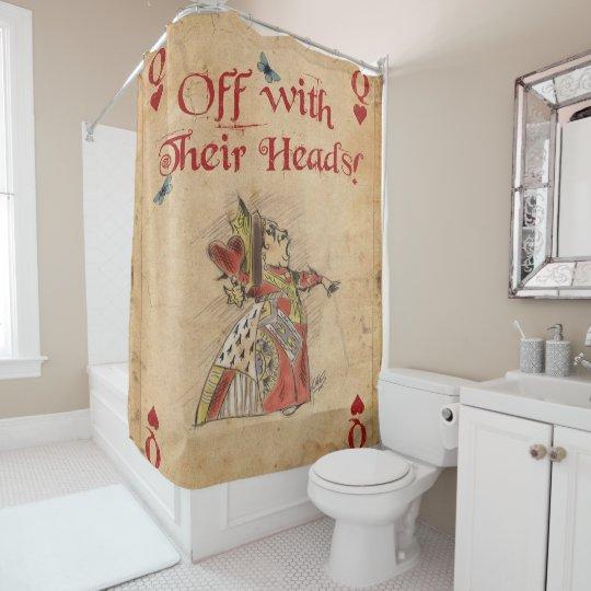 Alice In Wonderland Red Queen Shower Curtain