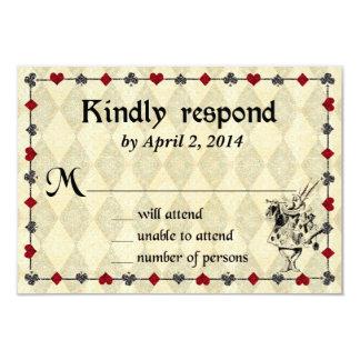 Alice In Wonderland Response Card   Wedding