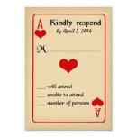 Alice in Wonderland Response Card - Wedding Personalized Invites