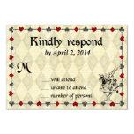 Alice in Wonderland Response Card - Wedding Personalized Invitations