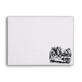 Alice in Wonderland Return Address Envelope