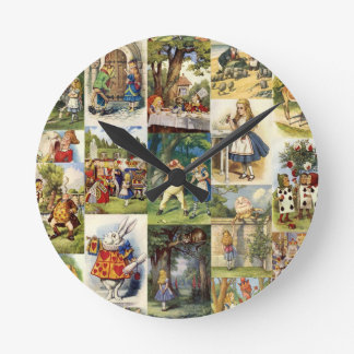 alice in wonderland round clock