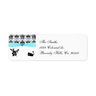 Alice In Wonderland Royal Crowns Baby Shower Return Address Label