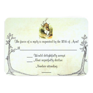 Alice in Wonderland RSVP Card