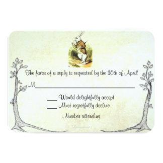 Alice in Wonderland RSVP Card