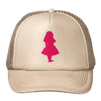 Alice In Wonderland Salmon Fuschia Pink Trucker Hat