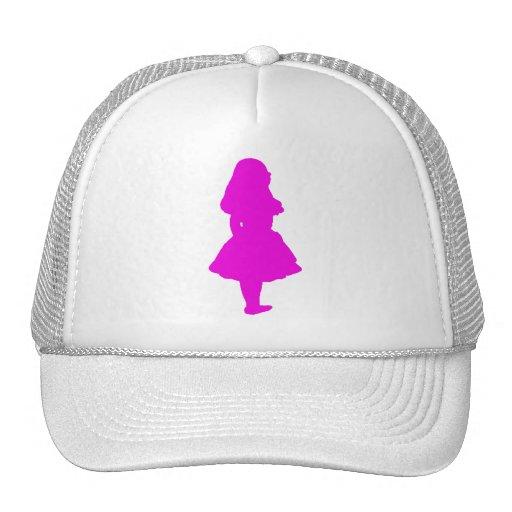 Alice In Wonderland Salmon Fuschia Pink Mesh Hats