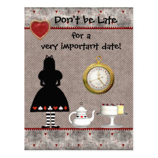 Alice in Wonderland Save the Date Baby Shower Postcard