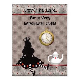 Alice in Wonderland Save the Date Baby Shower Postcard