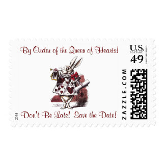 Alice in Wonderland - Save the Date Postage