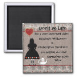 Alice in Wonderland Save the Date Wedding Magnets