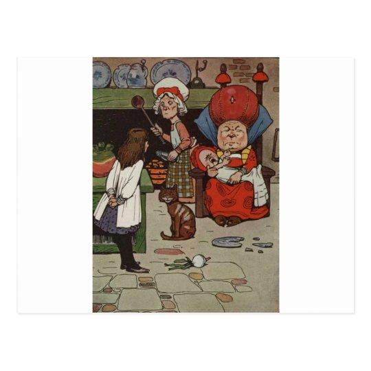 Alice in Wonderland Scene 4 Postcard