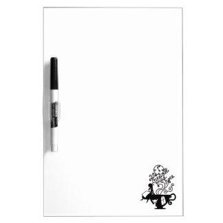 Alice in Wonderland. Silhouette illustration Dry Erase Board