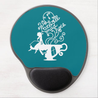 Alice in Wonderland. Silhouette illustration Gel Mouse Pad
