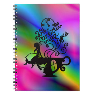 Alice in Wonderland. Silhouette illustration Notebook