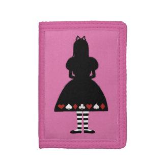 Alice in Wonderland Silhouette Trifold Wallets